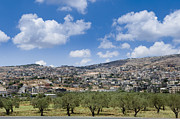 Arab Framed Prints - Hillside City in Israel Framed Print by Noam Armonn