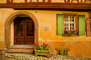 Alsace Prints - Hillside House Print by John Galbo
