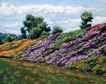 Flowers Pastels - Hillside by Mary Jane Erard
