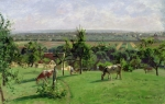 Calves Prints - Hillside of Vesinet Print by Camille Pissarro