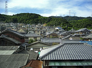 Kobe Prints - HILLSIDE VILLAGE in JAPAN Print by Daniel Hagerman
