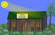 Grocery Store Digital Art - Hilltop Grocery by Dwayne Cain