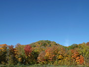 Changing Of The Seasons Prints - Hilly Fall Foliage Print by Brian  Maloney