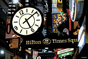 Times Square Painting Prints - Hilton 613 Print by Anthony Ross