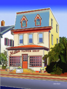 Catonsville Framed Prints - Hilton Flower Shop Framed Print by Stephen Younts
