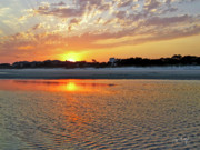 Low Tide Prints - Hilton Head Beach Print by Phill  Doherty