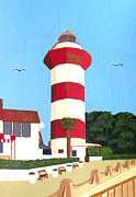 Head Harbour Lighthouse Paintings - Hilton Head Lighthouse Painting by Frederic Kohli