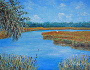 Marsh Scene Paintings - Hilton Head Tidal Creek by Stanton D Allaben
