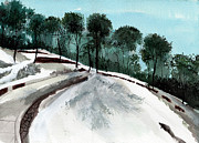 Winter Scene Paintings - Himalaya 2 by Anil Nene