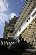 Japanese Prints - Himeji Castle Tower Print by Andy Smy