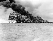 Luxury Travel Framed Prints - Hindenburg Crash At Lake Hurst, New Framed Print by Everett
