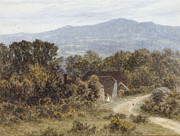 Mountain Road Painting Posters - Hindhead from Sandhills Witley Poster by Helen Allingham
