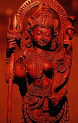 Hindu Goddess Photo Posters - Hindu Goddess Poster by Abhilash G Nath