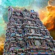 Hindu Goddess Prints - Hindu Temple Cosmos 1 Print by Gregory Smith