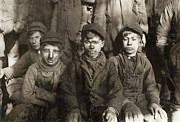 Coal Prints - Hine: Breaker Boys, 1911 Print by Granger