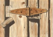 Rusty Drawings - Hinge by Pat Price