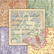 Words Painting Prints - Hint Of Spring Butterfly 2 Print by Debbie DeWitt