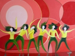 Hip Hop Painting Originals - Hip Hop Dancers by George Chamaa