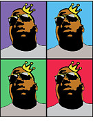 Hip Hop Icons The Notorious Big Print by Stanley Slaughter Jr