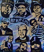 Stencil Art Paintings - Hip Hop Is Dead #1 by Tony B Conscious