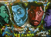 Jay Z Paintings - Hip Hop Kings by Jason JaFleu Fleurant