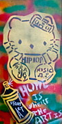 Tea Party Paintings - Hip Hop Kitty by Tony B Conscious