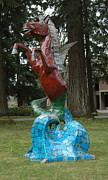 Whale Sculpture Metal Prints - Hippocampus Metal Print by Ben Dye
