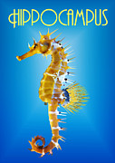 Sea Horse Posters - Hippocampus Poster by Joaquin Abella Ojeda