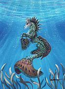 Seahorse Paintings - Hippocampus by Stanley Morrison