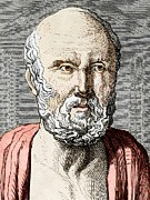 Rational Framed Prints - Hippocrates, Ancient Greek Physician Framed Print by Sheila Terry