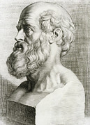 Historical Physician Framed Prints - Hippocrates, Greek Physician Framed Print by Science Source
