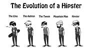 Hipster Evolution Print by Brendan McCartan