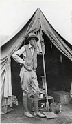 Pioneers Framed Prints - Hiram Bingham Poses For An Informal Framed Print by Hiram Bingham