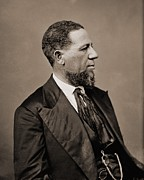 Blacks Posters - Hiram Revels 1822-1901 Was The First Poster by Everett