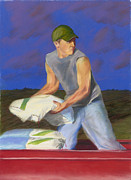 Rural Scenes Pastels - Hired Hand by Christian Vandehaar