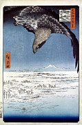 Period Framed Prints - Hiroshige: Edo/eagle, 1857 Framed Print by Granger