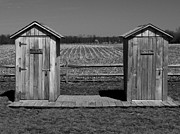 Outhouse Framed Prints - His and Hers Framed Print by Brian Mollenkopf