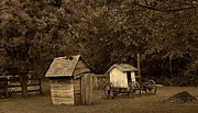 Antique Outhouse Photos - His and Hers by Scott Hovind