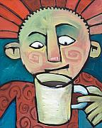 Smile Paintings - His Coffee Spoke to Him by Tim Nyberg