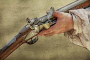 His Flintlock Rifle Print by Randy Steele