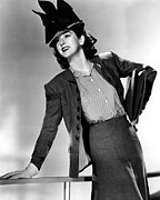Films By Howard Hawks Framed Prints - His Girl Friday, Rosalind Russell,1940 Framed Print by Everett