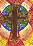 Round Pastels Posters - His Glory filling the Earth Poster by Cathy Bishop