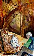Landscape Mixed Media Originals - His Golden Years by Mindy Newman