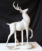 Deer Sculpture Originals - His Magesty by Amanda Hughes-Lubeck