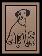 Chipper Posters - His Masters Voice - Nipper And Chipper Poster by Rob Hans