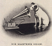 Voice Framed Prints - His Masters Voice, Originally Framed Print by Everett