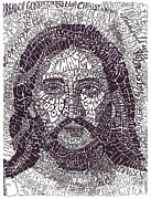 Jesus Drawings - His Name by Wendy Wilson