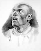 Basket Ball Drawings - His Royal Highness by Michael Harris