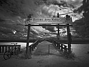 City Pier Framed Prints - Historic Anna Maria City Pier 9177436 Framed Print by Rolf Bertram