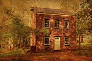 Brown Tones Prints - Historic Bakery - Allaire State Park Print by Angie McKenzie